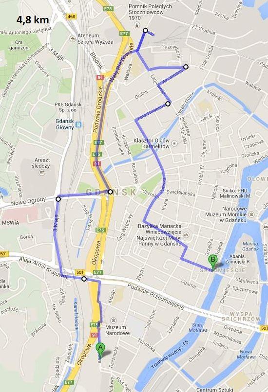 Gdask 5.07.2014 trasa - wersja 2
