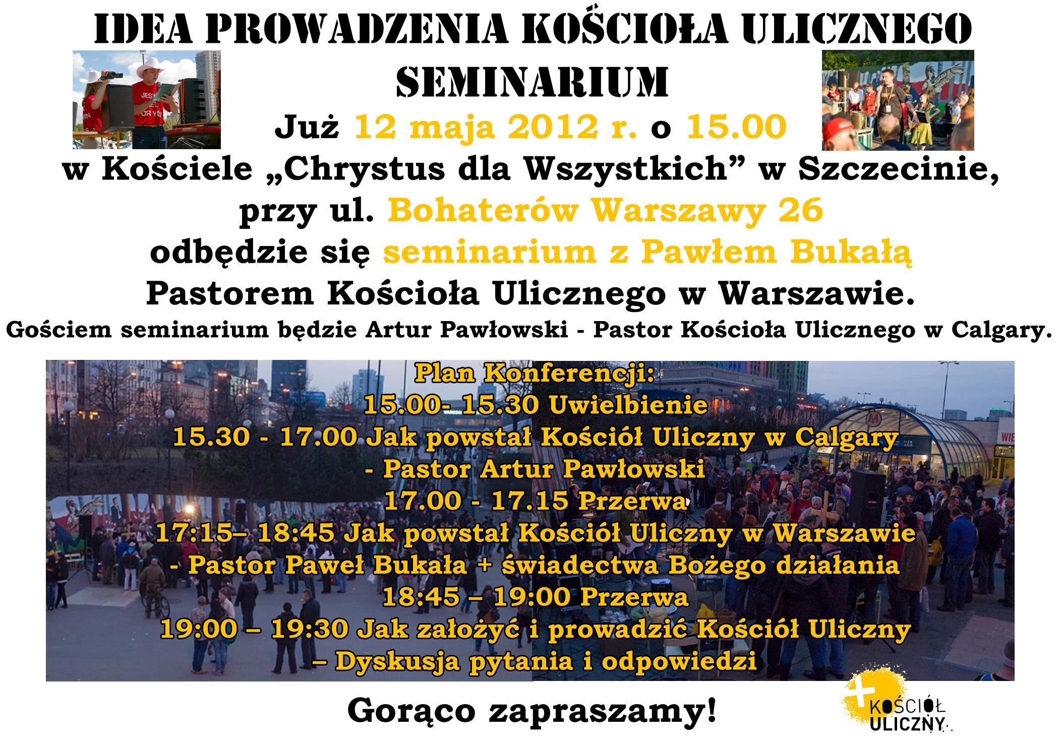 seminarium Koscio Uliczny