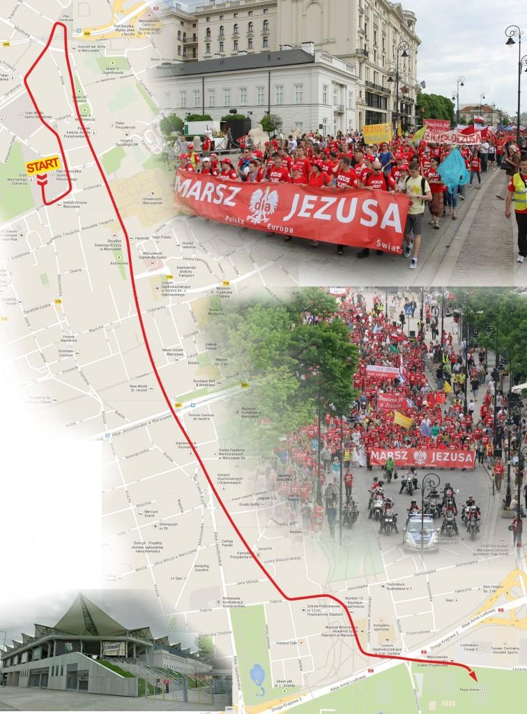 mapa - projekt trasy Marszu 2014